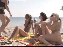 Bikini girls go home with him for group scene