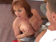 Slutty big tits redhead secretary taken