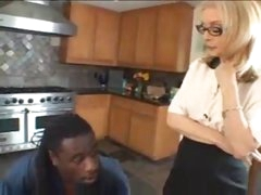 Milf in lingerie and the black man