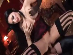 Aletta Ocean with hot red lips fucked in the ass